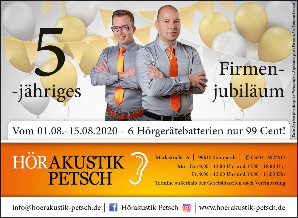 2020 Jubiläumsanzeige August - Amtsblatt Landkreis Sömmerda