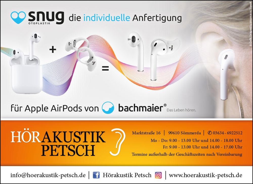 2021 - Anzeige SNUG Otoplastik Apple AirPods - Amtsblatt Landkreis Sömmerda